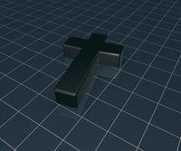 schwarzes christliches kreuz - 3d illustration
