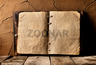 Old book on table