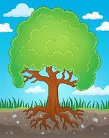 Tree with roots theme image 2 - picture illustration.