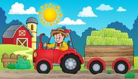 Tractor theme image 4 - picture illustration.