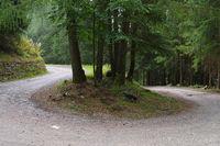 Weg mit Serpentine - way with winding road