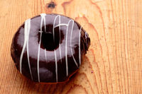 donut with chocolate frosting