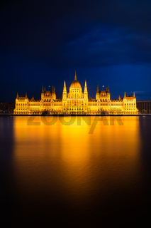 Hungarian Parliament Building in golden light, Budapest