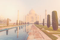 Taj Mahal in Agra India with Instagram Style Filter