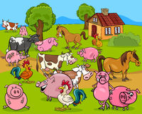 farm animals cartoon illustration