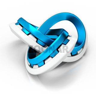 3d abstract infinity  knot