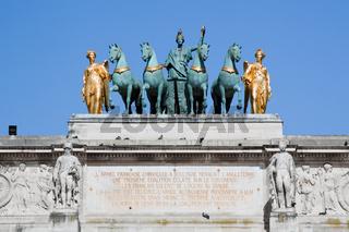 Arc de Triomphe du Carrousel in Paris, France.