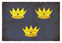 Grunge flag of Munster (Ireland)
