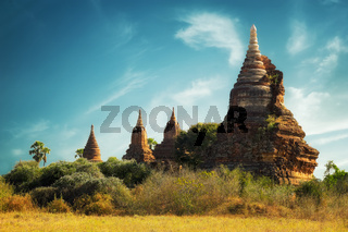 Buddhist Temples at Bagan Kingdom, Myanmar (Burma)