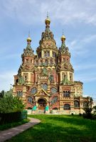 Peter and Paul Cathedral in Peterhof, St-Petersburg, Russia.