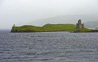 Ardvreck Castle at Loch Assynt, Sutherland, Scotland, Great Britain