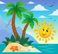 Tropical island theme image 9 - picture illustration.