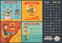 Online Business flat design Infographic Template