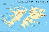 Falkland Island Political Map