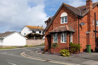 Typical redbrick house, England.