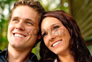Enamoured pair closeup