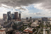 Cloudy skyline over downtown Los Angeles