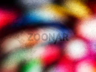Horizontal vivid dirty light blob bokeh abstraction background b