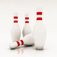 white bowling pins