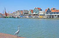 Village of Edam-Volendam at Ijsselmeer,Netherlands,Benelux