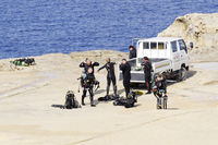 Scuba diving on Gozo