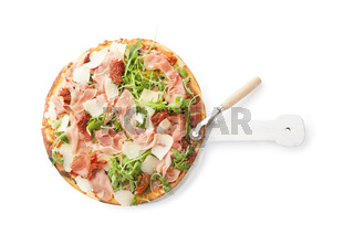 Culinary pizza eating.