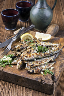 Grilled Anchovies
