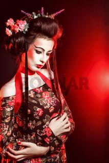 Submissive geisha.