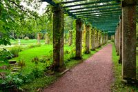 Colonnade near China palace in garden, Oranienbaum – Lomonosov,