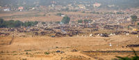 Panarama of Pushkar Camel Fair in India