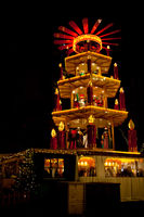 Christmas market in Dortmund, Germany, with pyramid