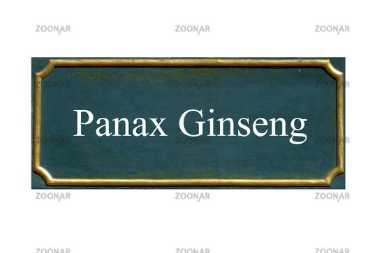 shield panax ginseng