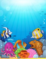 Ocean underwater theme background 5 - picture illustration.