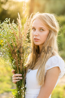 girl with bouquet
