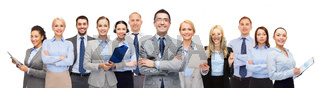 group of happy businesspeople