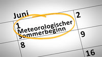 Meteorological beginning of the summer first of june in german language