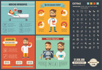 Medicine flat design Infographic Template