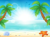 Beach theme image 8 - picture illustration.