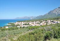 Village of Promajna at adriatic Sea in Dalmatia,Croatia