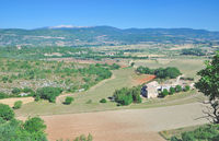 View to Mont Ventoux Mountain in Provence,France
