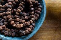 Prayer beads made of rudraksha seeds