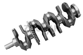 Engine crankshaft on a white background