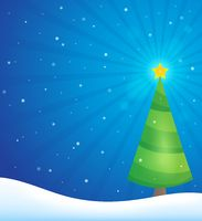Stylized Christmas tree topic image 3 - picture illustration.
