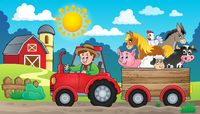 Tractor theme image 3 - picture illustration.