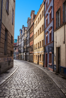 narrow streets of Old Town Wroclaw