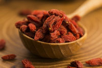 Portion of dried Goji Berries (also known as Wolfberry)
