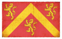Grunge flag of Anglesey (Wales)
