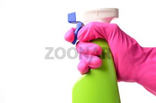 Hand with a sprayer