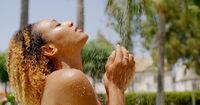 Attractive Female Taking Shower