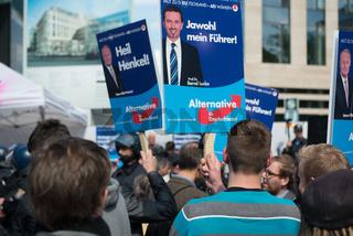 Protest gegen AfD bei Europawahl